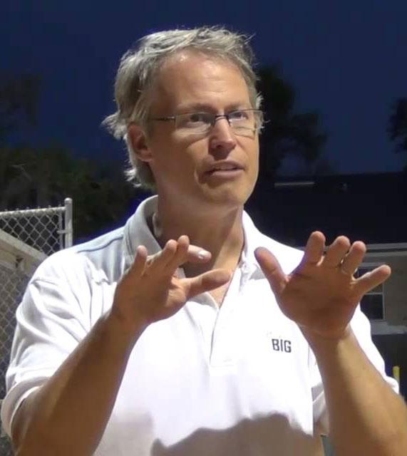 Dr. Tom Hanson Sports Psychologist Action Shot