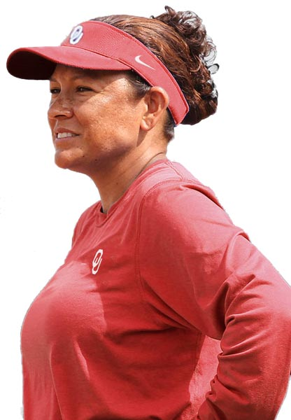 Jennifer Rocha Assoicate Head Softball Coach University of Oklahoma Action Shot