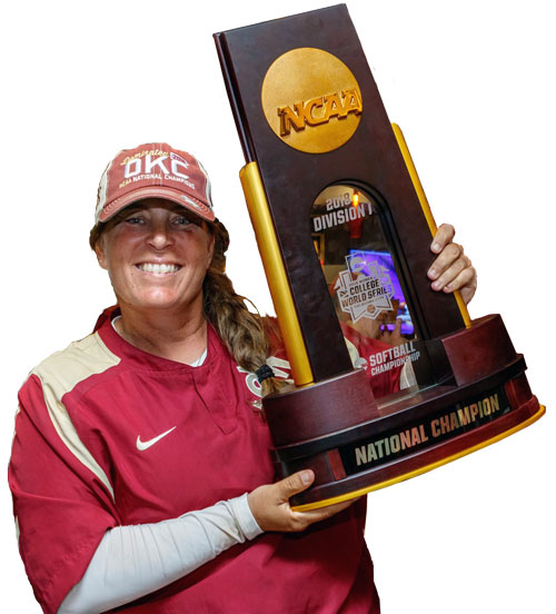Lonni Alamedia Head Coach Florida State University 2018 National Softball Champions Women's College World Series