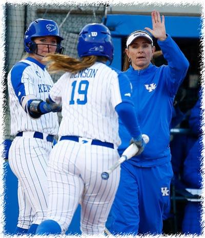Rachel Lawson Head Softball Coach University of Kentucky Action Shot